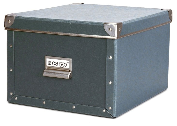 S/2 Cargo Shelf Boxes, Bluestone
