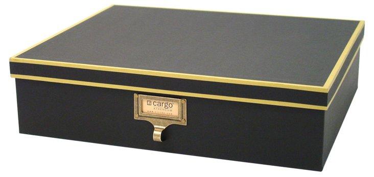 S/2 Cargo Atheneum Document Boxes, Black