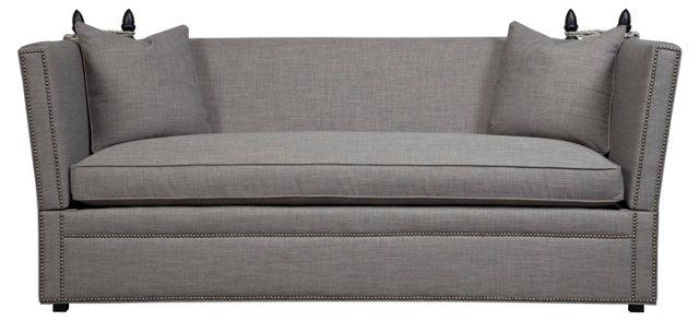 """Plaza 80"""" Sofa, Gray"""