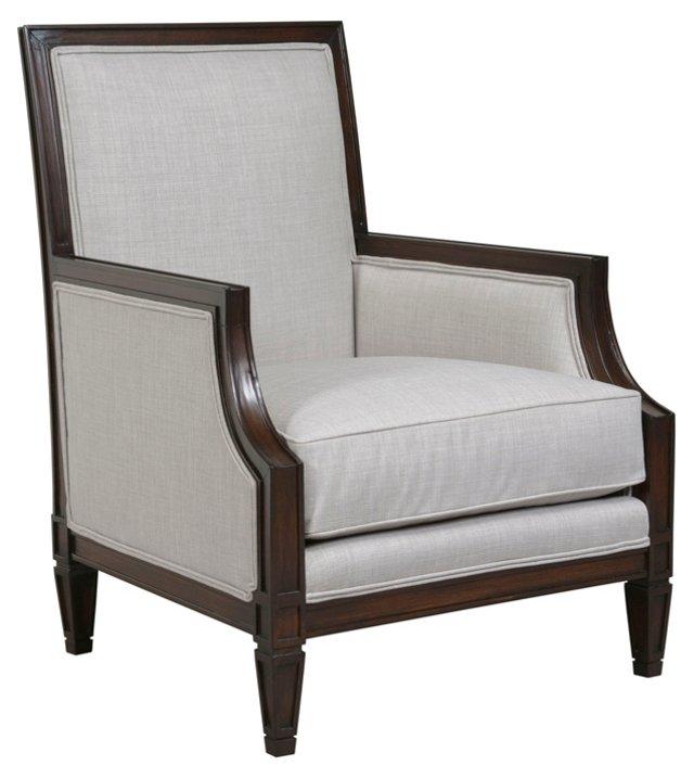 Paris Accent Chair, Light Silver