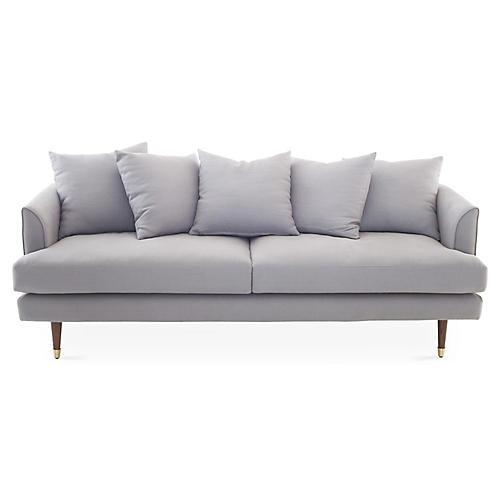 Claremont Sofa, Light Gray Linen