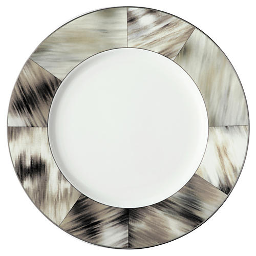 Gwyneth Dinner Plate, Platinum Trim