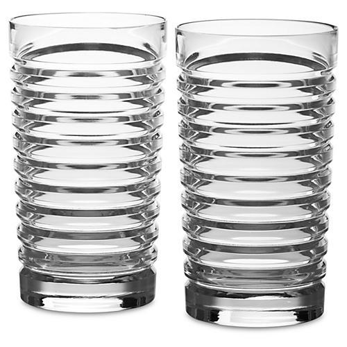S/2 Metropolis Highball Glasses