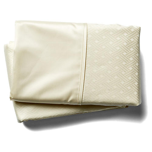 Bedford Jacquard Fitted Sheet
