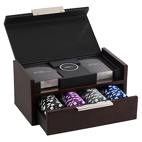 Sutton Poker Set, Black