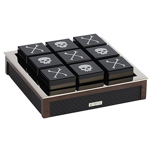 Sutton Tic-Tac-Toe Set, Black