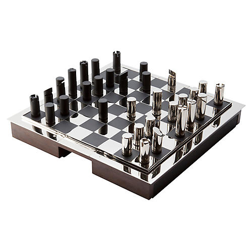Sutton Chess Set, Black