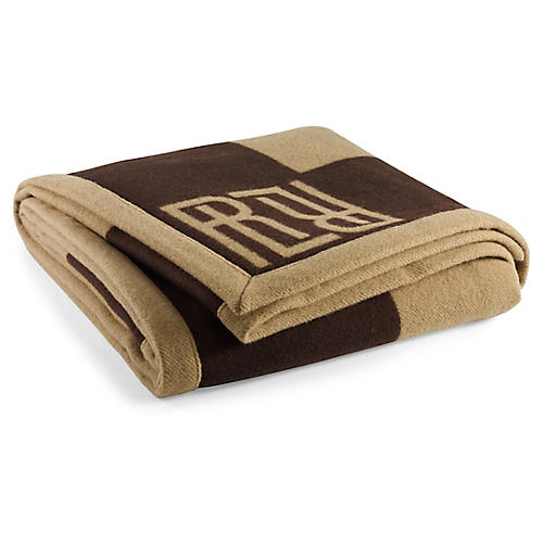 Montclair Signature Blanket, Chocolate