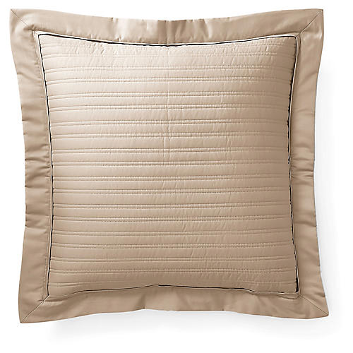 Reed Throw Pillow, Cape Tan