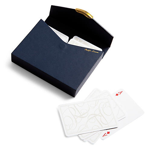 Sophie Playing Card Set, Navy/Gold