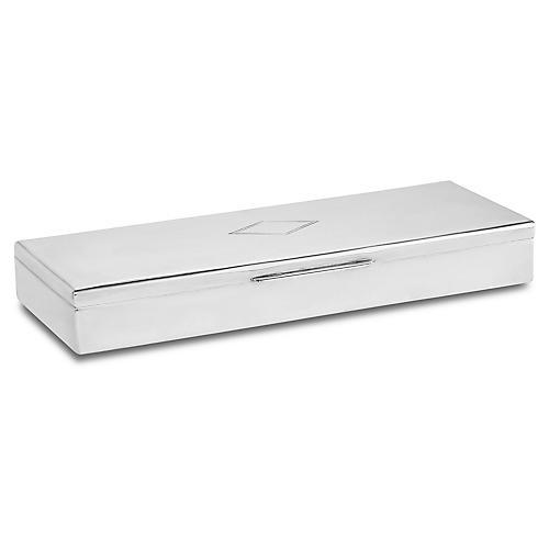 "10"" Cherrington Oblong Box, Silver"