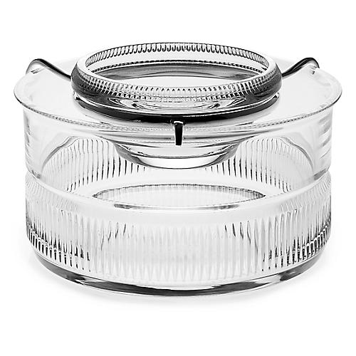 Broughton Caviar Set, Clear/Silver