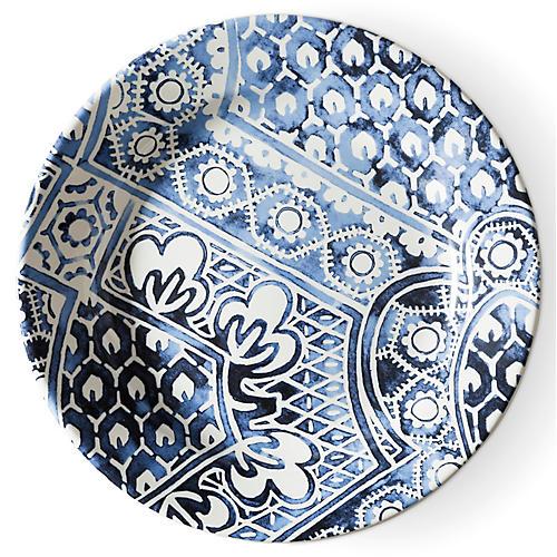 Cote D'Azur Batik Salad Plate, Navy/White