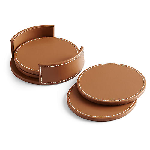 S/4 Wyatt Coasters, Saddle Brown