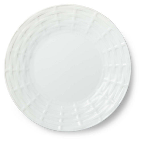Belcourt Salad Plate, White