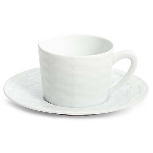Belcourt Teacup & Saucer, White