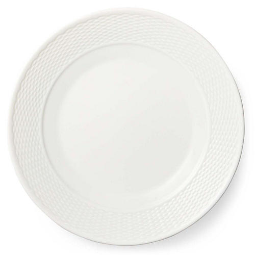 Rivington Salad Plate, White