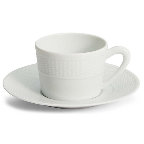 Rivington Tea Cup & Saucer, White