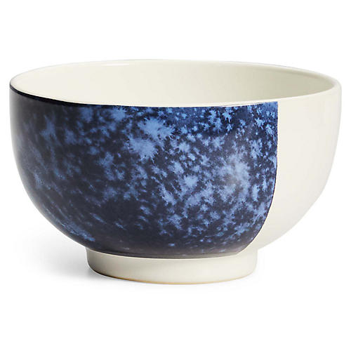 Casey Cereal Bowl, White/Navy