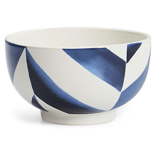 Mason Cereal Bowl, White/Navy