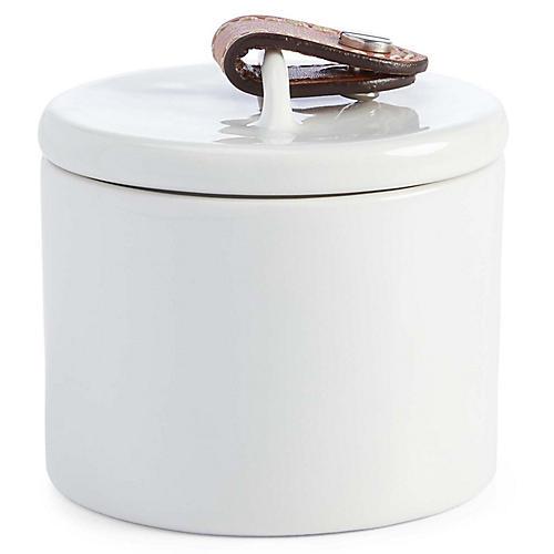Wyatt Sugar Bowl, White/Saddle