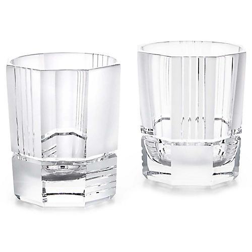 S/2 Mercer DOF Glasses, Clear