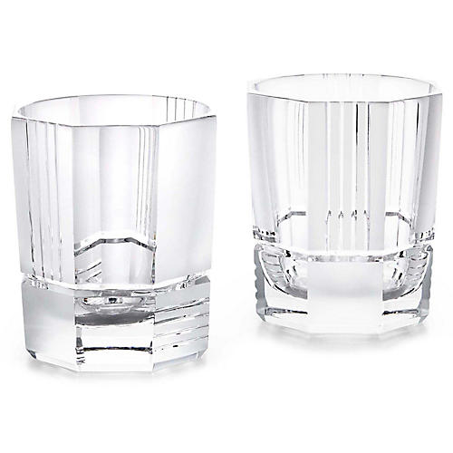 S/2 Mercer DOF Glasses, Clear