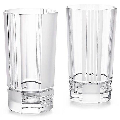 S/2 Mercer Highball Glasses, Clear