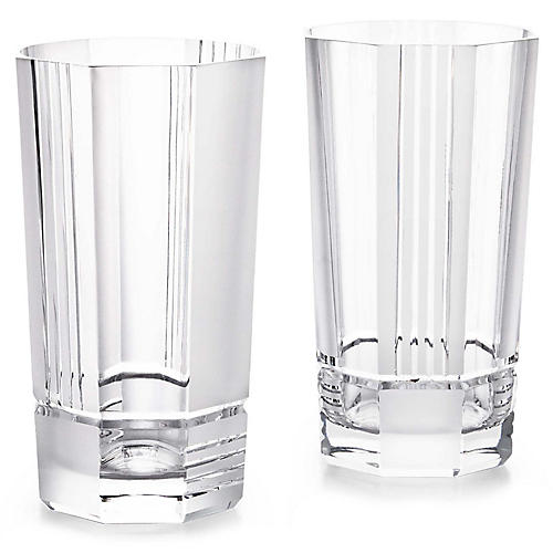 S/2 Mercer Highball Glasses, Clear