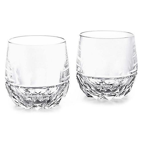 S/2 Monroe DOF Glasses, Clear