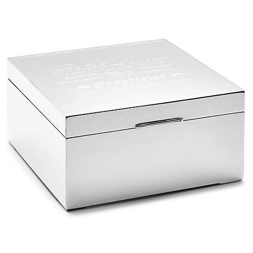 """6"""" Proprietor Box, Silver"""