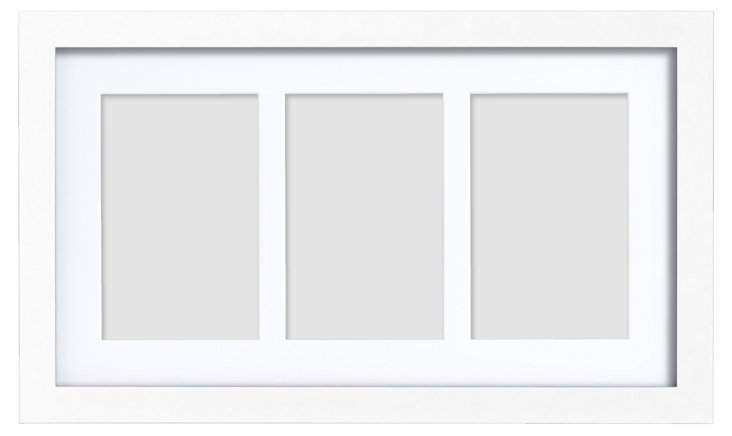 S/2 Triple Gallery Frames, 4x6, White