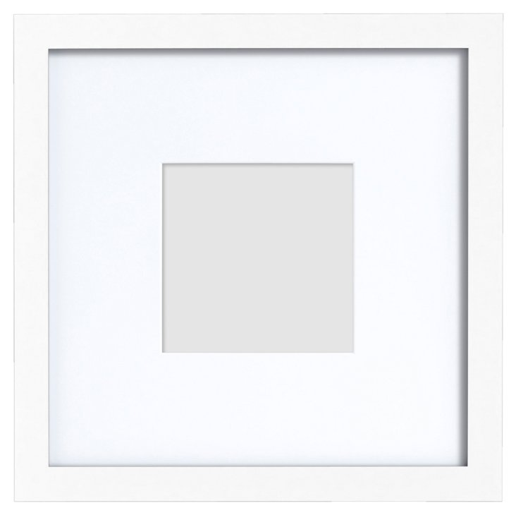 S/2 Gallery Frames, 5x5, White