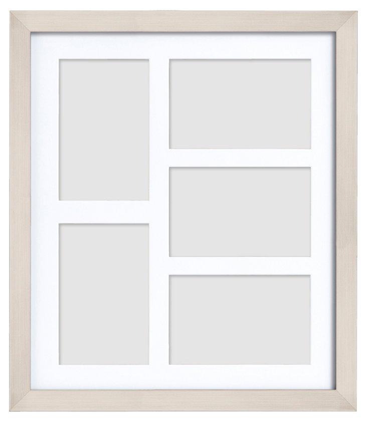 5-Photo Gallery Frame, 4x6, Nickel