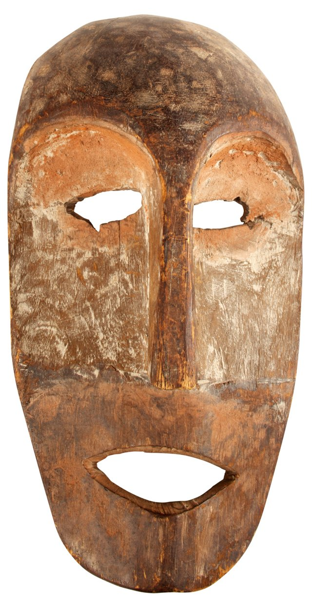 African Carved Wood Face Mask II