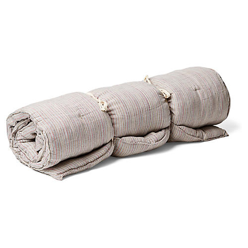 Kapok Throw Bed, Beige/Multi