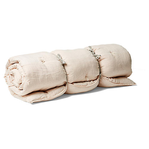 Kapok Throw Bed, Blush