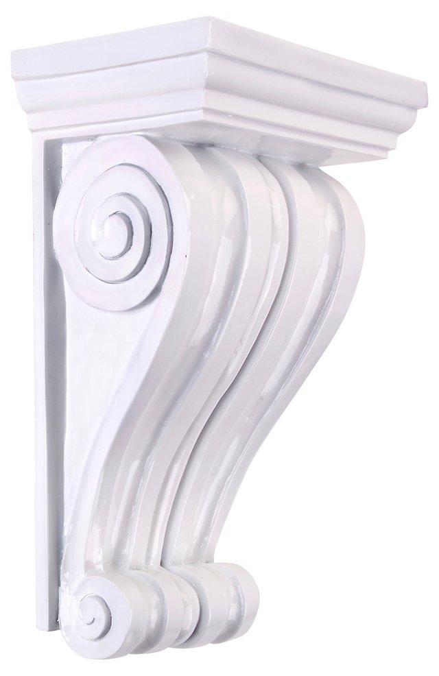 Curved Wall Shelf, White