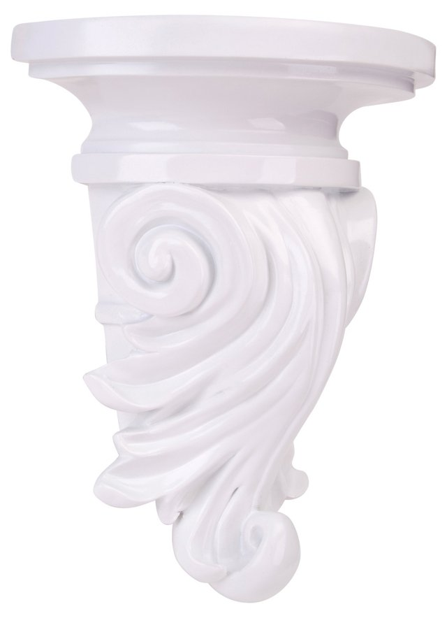 Coiled Wall Shelf, White