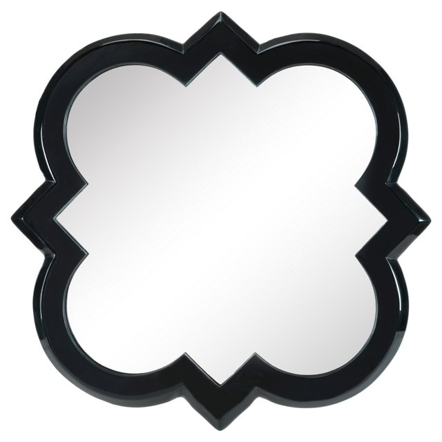 Harper Quatrefoil Wall Mirror, Black