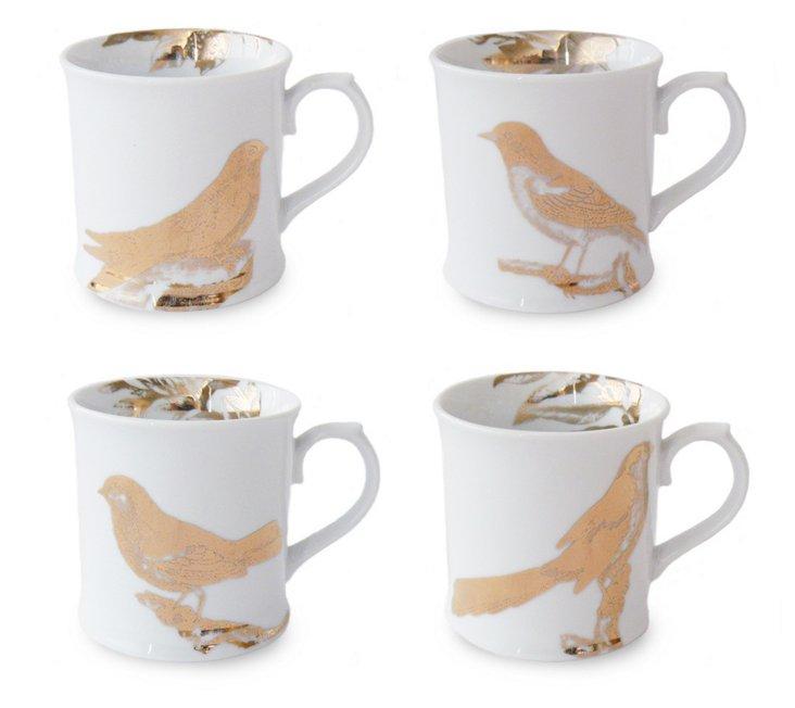S/4 Asst Calling Birds Mugs