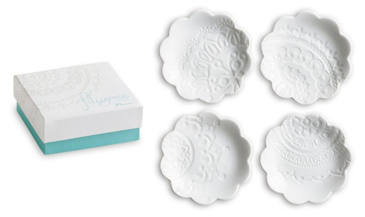 S/4 Filigree Dipping Dishes