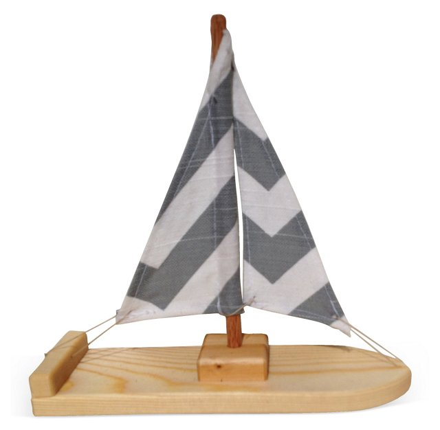 Chevron Sailboat