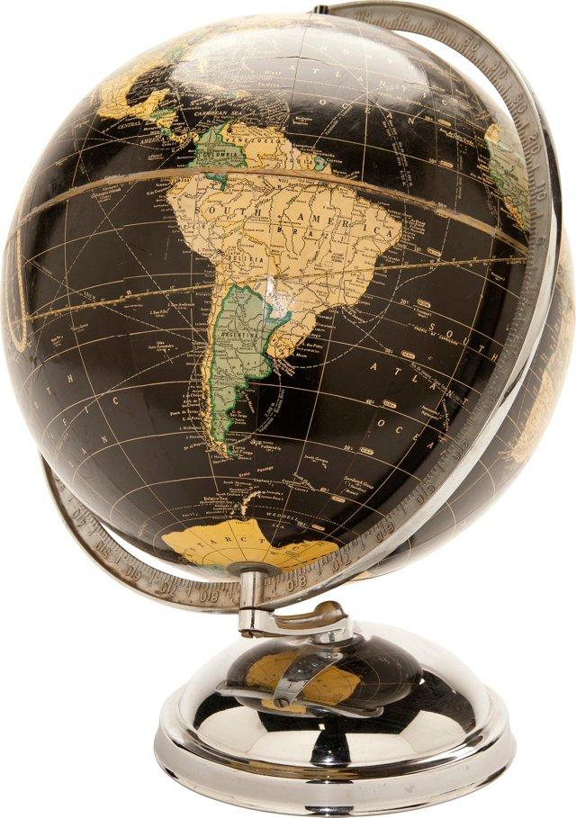 Black 1940s Globe