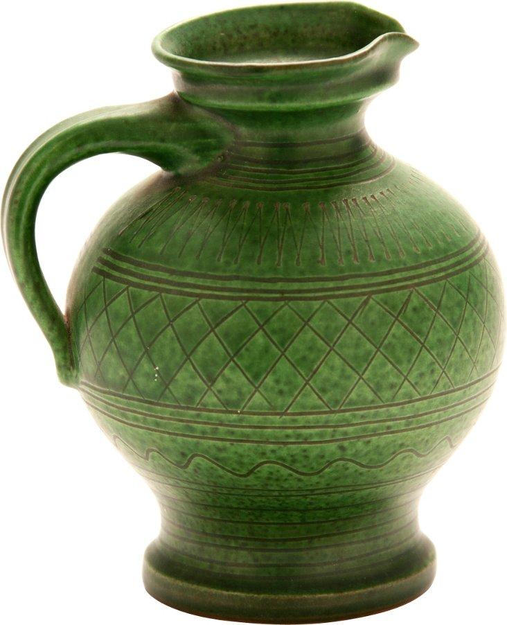 Green Ceramic Pitcher