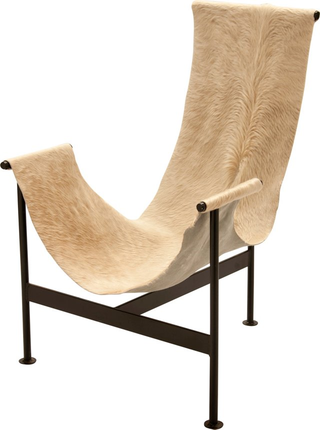 Iron & Cowhide Sling Chair