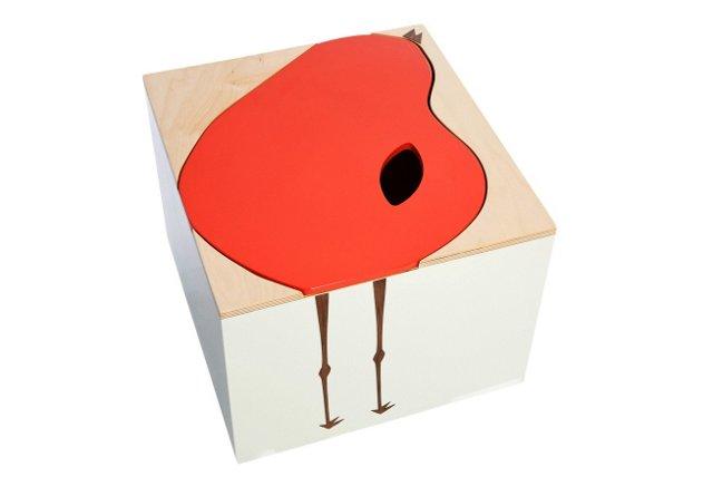 Bertie Toy Box, Red