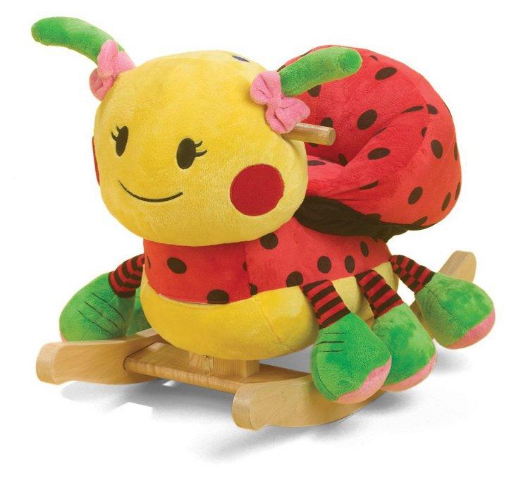 Lulu the Ladybug Rocker, Yellow/Red