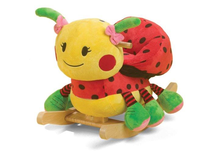 Lulu Ladybug Rocker, Red/Yellow