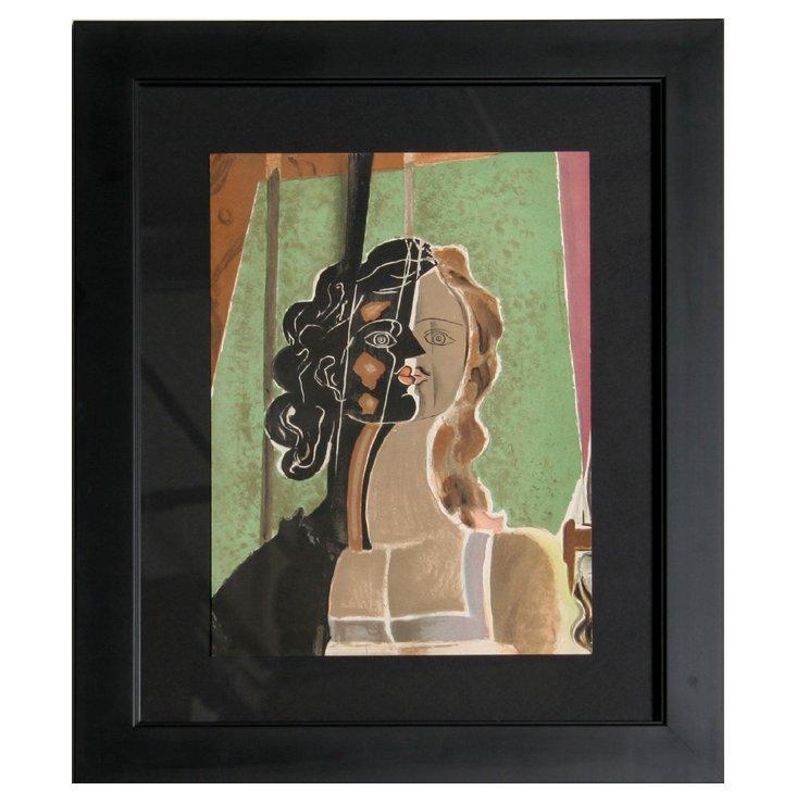 G. Braque, Figure, Framed Lithograph